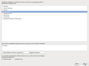 "Figure 14: Choisissez ""Basic Server"" (selon vos besoins)"