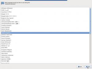 Figure 5: Choisissez la langue d'installation...