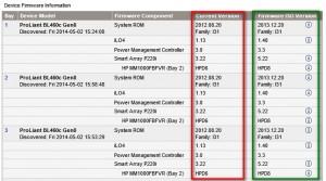 Figure 8: Liste des firmwares
