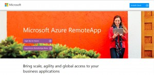 Figure 1: Portail Azure RemoteApp