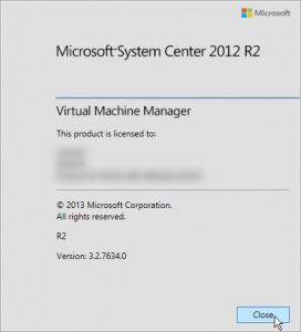 Figure 12: Version de la console VMM
