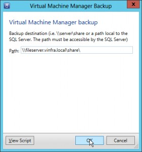 Figure 2: VMM Backup Share