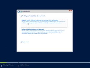Figure 7: Upgrade Windows