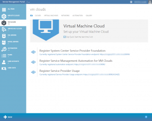 Figure 1: Windows Azure Pack Virtual Machine Cloud
